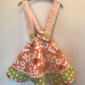 Twirly Jelly the Pug circle skirt w/suspenders 4